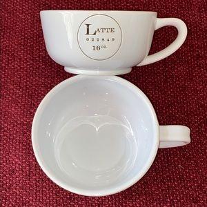 2 Pottery Barn 16 Ounce Latte - Coffee Mugs